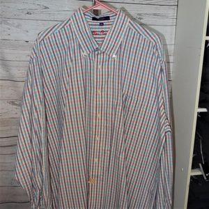 ALAN FLUSSER MEN'S SZ 2XL DRESS CASUAL SHIRT